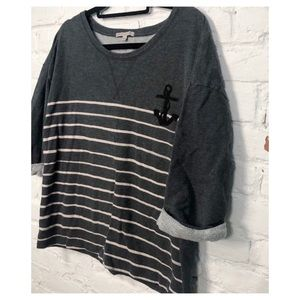 GAP Gray Pull Over 3/4 Sleeve Sweater Large